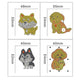 DIY Diamond Painting Keychain-4pcs/set Animals