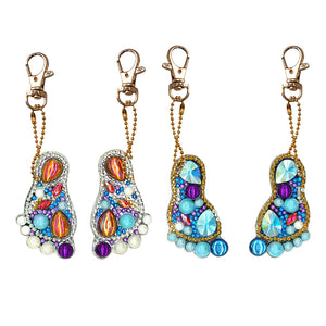 DIY Diamond Painting Keychain-4pcs/set Ankle