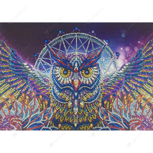 Diamond Painting-DIY Crystal Rhinestone Waving Owl