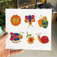 6pcs DIY Full Drill Round Cute Animals Diamond Painting Christmas Stickers