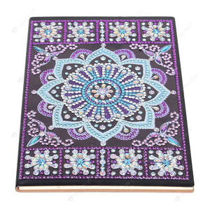 DIY Crystal Rhinestones Diamond Painting Purple Mandala Notebook