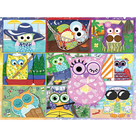 Diamond Painting-5D Full Square Drill Cartoon Owl
