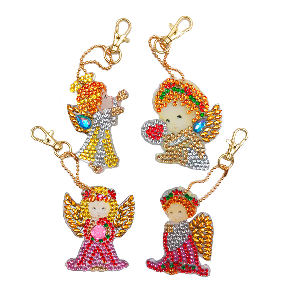 DIY Diamond Painting Keychain-4pcs/set Angel
