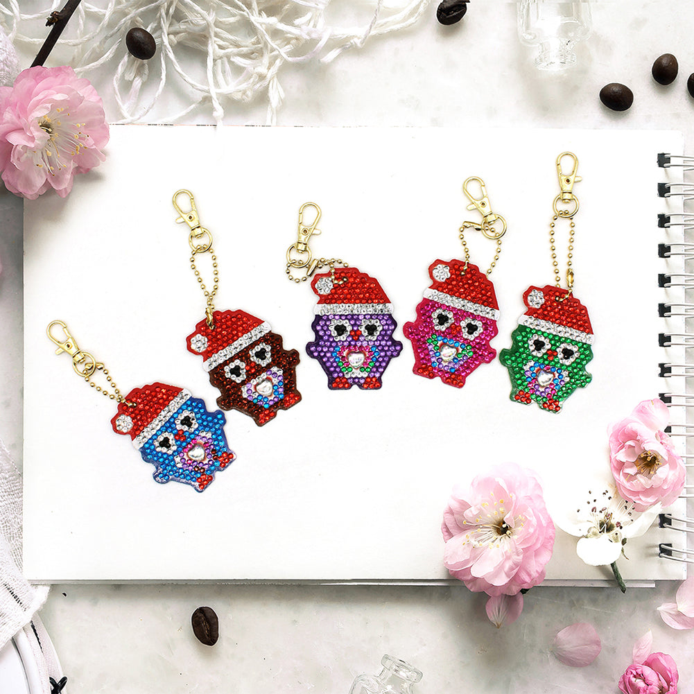 DIY Diamond Painting Keychain-5pcs/set Christmas