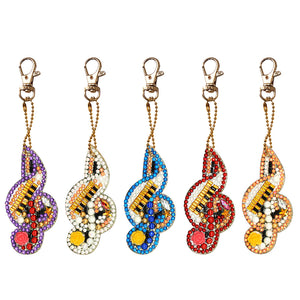 DIY Diamond Painting Keychain-5pcs/set Musical