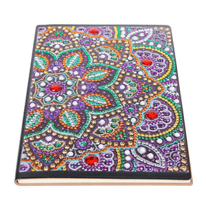 DIY Crystal Rhinestones Diamond Painting Flower Notebook