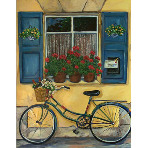 Diamond Painting-5D Full Round Drill Pastoral Bicycle