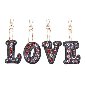DIY Diamond Painting Keychain-4pcs/set Love