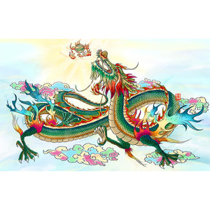 Diamond Painting-5D Full Round Drill Chinese Dragon(40*60)