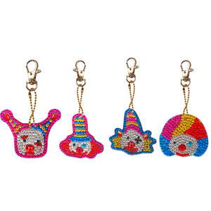 DIY Diamond Painting Keychain-4pcs/set Clown