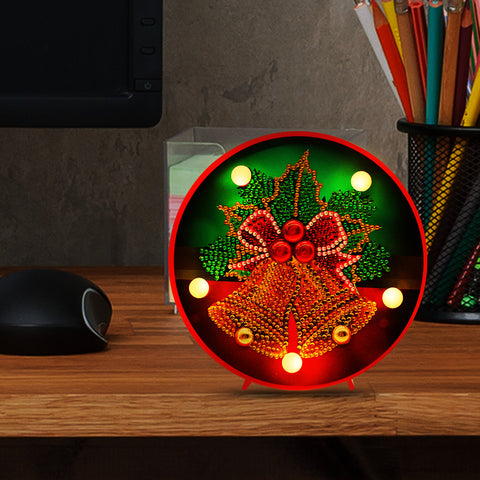 DIY Diamond Painting LED Lamp Crystal Rhinestone  Christmas Bell Room Decor