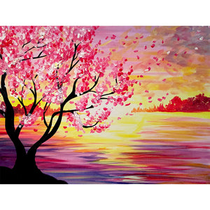 Diamond Painting-5D Full Round Drill Flower Tree