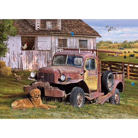 Diamond Painting-5D Full Square Drill Rural Landscape Life