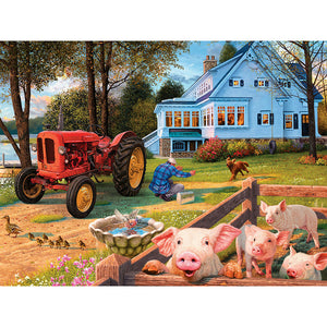 Diamond Painting-5D Full Square Drill Pig
