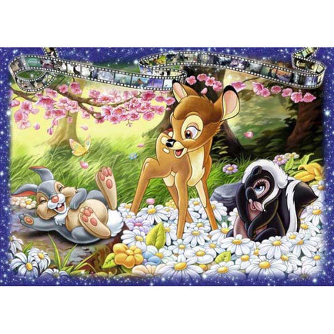 Diamond Painting-5D Full Square Drill Cartoon Deer