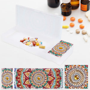 DIY Mandala Special Shaped Diamond Painting Stationery Box Pencil Case Gift