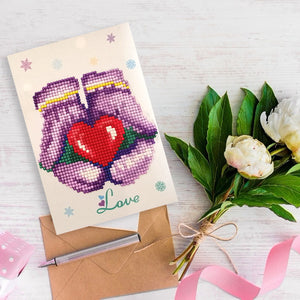 5D DIY Drills Diamond Painting Greeting Valentine Card Party Birthday Gifts