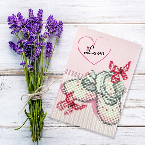 5D DIY Drills Diamond Painting Valentine Greeting Card Party Birthday Gifts