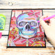 DIY Crystal Rhinestones Diamond Painting Skull Notebook