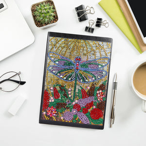 DIY Crystal Rhinestones Diamond Painting Dragonfly  Notebook