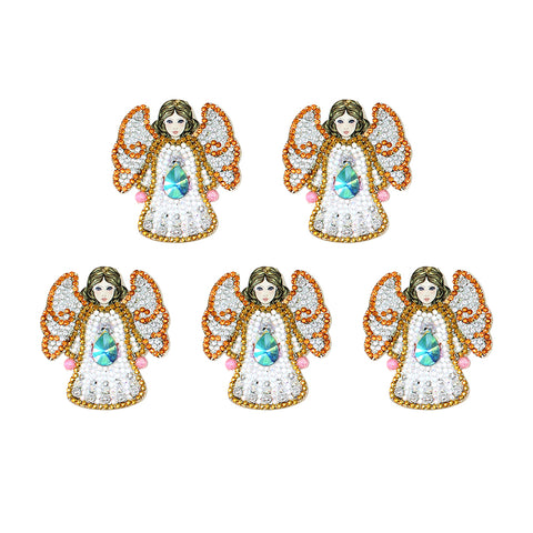 DIY Diamond Painting Keychain-5pc Angel