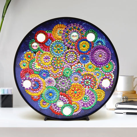 DIY Diamond Painting LED Lamp Crystal Rhinestone FlowerRoom Decor