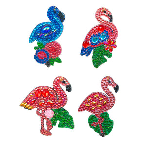 DIY Diamond Painting Keychain-4pcs/set Flamingo