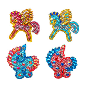 DIY Diamond Painting Keychain-4pcs/set Fly Horse