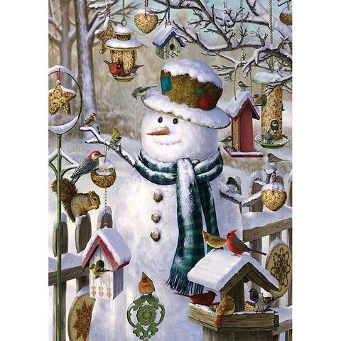 Diamond Painting-5D Full Round Drill Snowman