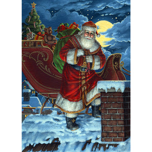 Diamond Painting-5D Full Round Drill Santa Claus