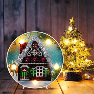 DIY Diamond Painting LED Lamp Crystal Rhinestone  Christmas House Room Decor