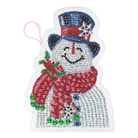 DIY Special Shaped Diamond Painting Wallet Snowman Coin Purse Keychain Gift