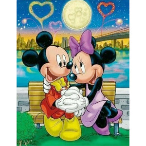 Diamond Painting-5D Full Round Drill Mickey Mouse(40X50cm)