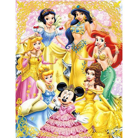 Diamond Painting-5D Full Round Drill Disney Princess(40X50)