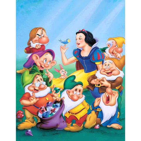 Diamond Painting-5D Full Round Drill Snow White(40X50cm)