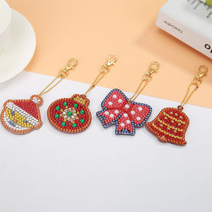 DIY Diamond Painting Keychain-5pc Christmas
