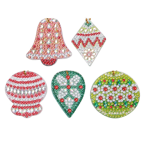 DIY Diamond Painting Keychain-5pc Christmas Bell