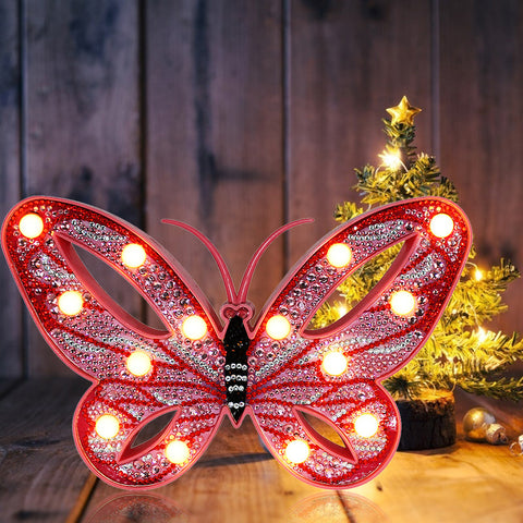 DIY Diamond Painting LED Lamp Crystal Rhinestone Butterfly Room Decor