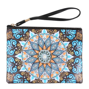 Diamond Painting-DIY Crystal Rhinestone Mandala Wristlet Wallet