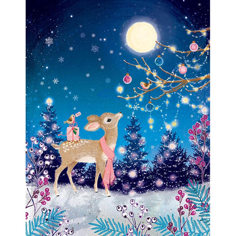 Diamond Painting-5D Full Round Drill Christmas Deer