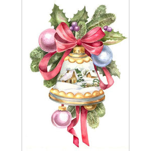 Diamond Painting-5D Full Round Drill Christmas Bell