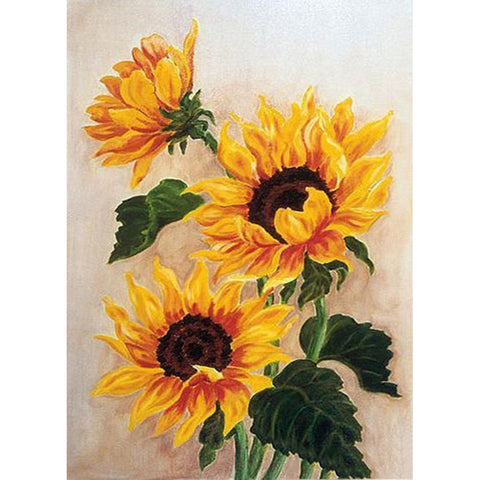 Diamond Painting-5D Full Round Drill Sunflower