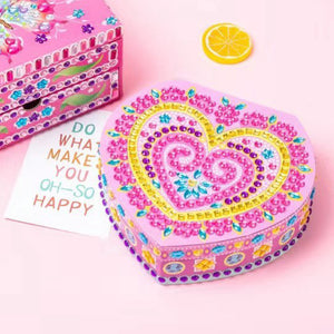 DIY Special Shaped Diamond Painting Heart Shape Jewelry Storage Box Gifts