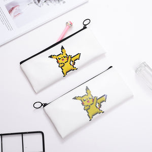 DIY Diamond Painting Creative Pencil Bag Students Stationery Storage Bags