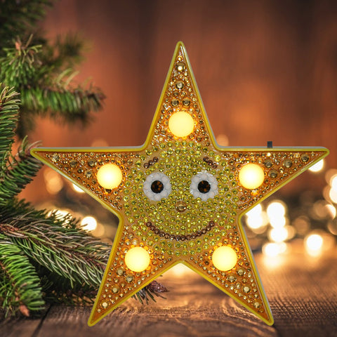 DIY Special Shape Drill Diamond Painting Star Light Embroidery Home Decor