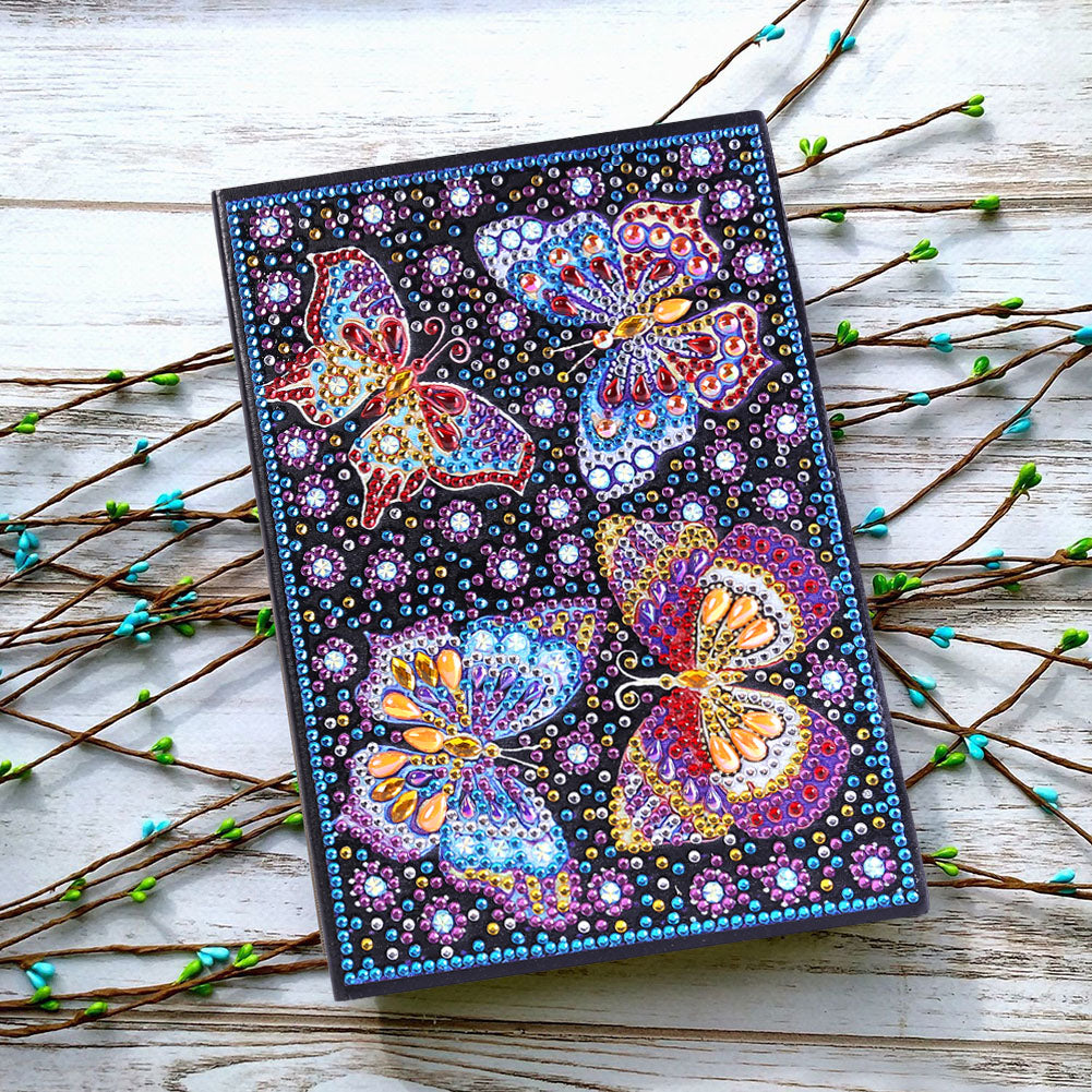 DIY Crystal Rhinestones Diamond Painting Butterfly Notebook