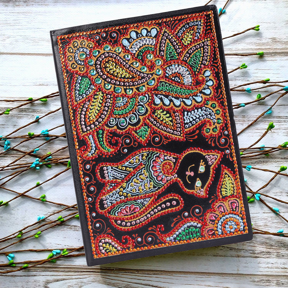 DIY Crystal Rhinestones Diamond Painting Cat Notebook