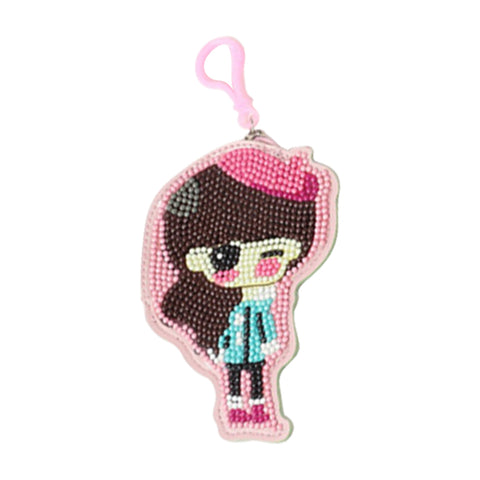 DIY Special Shaped Diamond Painting Girl Wallet Embroidery Coin Purse Gifts