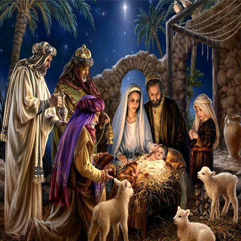 Diamond Painting-5D Full Round Drill Birth of Jesus