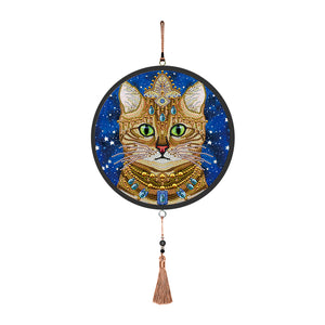 Cat Diamond Painting Coffee Tassels Special Shape Partial Drills Home Decor